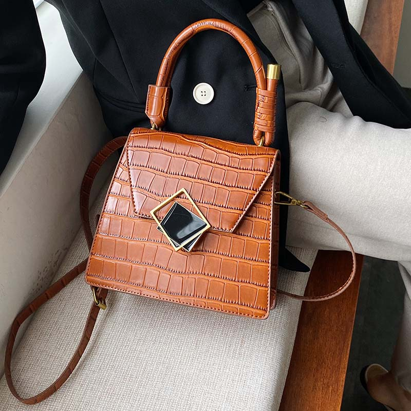 Stone Pattern PU Leather Small Crossbody Bags For Women 2020 Shoulder Messenger Bag Lady Luxury Handbags Fashion Totes
