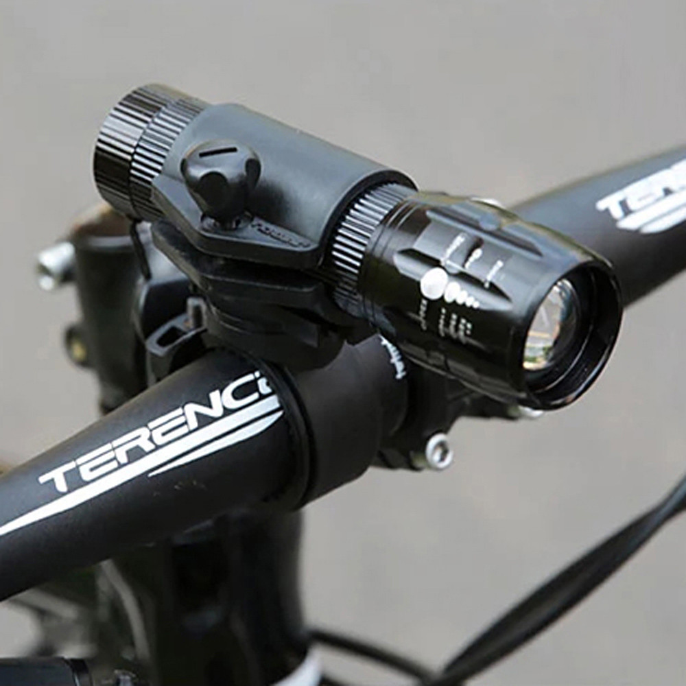 USB T6 LED Bike Bicycle Light Rechargeable 18650 Rotary Headlight /&Taillight Set