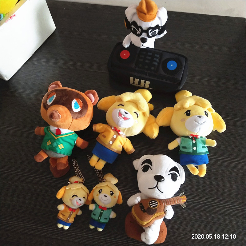 2020 8cm/20cm Original Animal Crossing KK Cartoon Figure Doll Soft Stuffed Plush Toys Children Gift Toys Kaychain