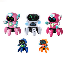 Smart Dancing Robot Electronic Six-claw Dance RC Robot Included LED Music Nina Robot Toys for Children Birthday Gift