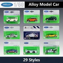 WELLY Diecast 1: 60 سيارة نموذج سيارة صغيرة تويوتا كورولا/المطار الأمتعة سيارة حافلة جرار مقطورة سبيكة معدنية سيارات لعبة هدايا الطفل