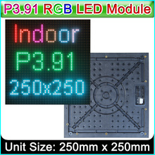 P3.91 Outdoor full color LED display module, P3.91 LED display panel 250x250mm