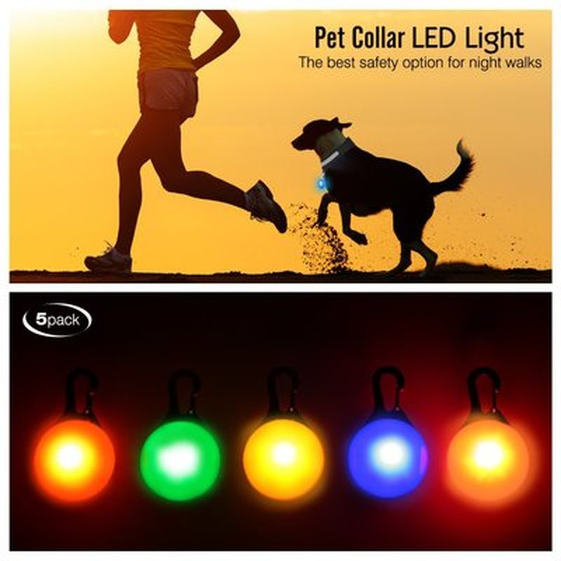 New Portable Outdoor Mini Warning Light Waterproof Pet Strobe Light Night Riding Night Running Camping Walking Emergency Light