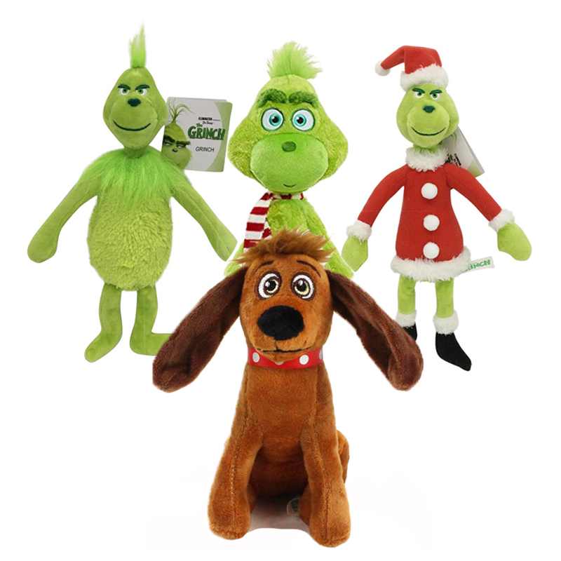 18-32cm Christmas Grinch Plush Doll Soft Toy Stuffed Teddy for Kids Gifts