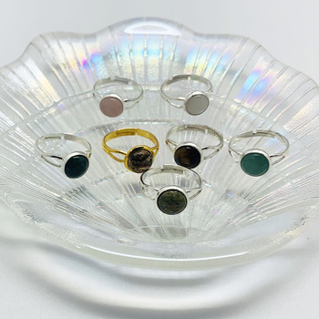 Богемные ювелирные изделия ручной работы, подарок, кольца с натуральным кристаллом для женщин, очаровательные Регулируемые кольца для дня рождения