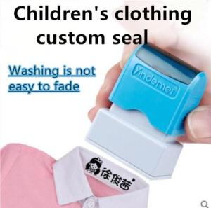 Cute cartoon children's seal baby student clothes chapter custom school uniform name word waterproof wash not faded stamp(China)