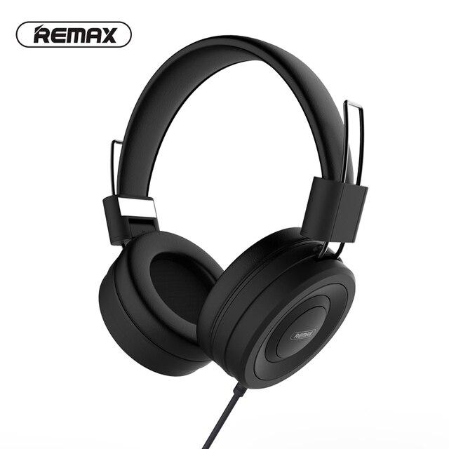 Remax headphone portátil com entrada aux e microfone, headset para pc, mp3, com cancelamento de ruído, fio de 3.5mm mp4