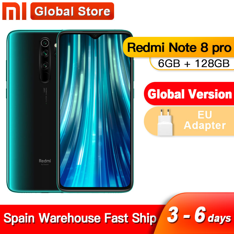 Spain Overseas Global Version Xiaomi Redmi Note 8 Pro 6GB 128GB Mobile Phone 64MP Quad Camera MTK Helio G90T Smartphone 4500 NFC(China)