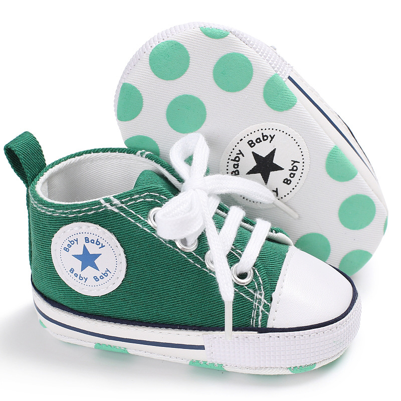 Classic Casual Canvas Baby Shoes Newborn Sports Sneakers First Walkers Kids Booties Children Moccasins | Happy Baby Mama