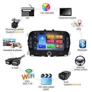 Для Fiat 500 2016 2017 2018 2019 7 дюймов 2 Din Android 9,1 Автомобильный мультимедийный плеер WIFI навигация GPS авто стерео головное устройство