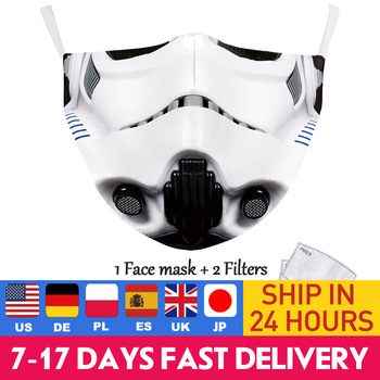 Washable Face Mask Print Star War Series Protective PM 2.5 Dust Masks Fabric Mouth Cover Earloop Adult Mouth-muffle Sporting