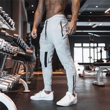 Pantalones deportivos para correr para hombre, Gris liso deportivos de algodón para gimnasio, color negro, 2020