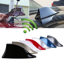 YOLU 2pcs Universal Car Radio Shark Fin Antenna FM Signal Design Aerials Styling