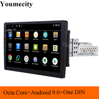 Octa Core 1din Android 9.0 car dvd gps navigation radio video player stereo universal radio car universal multimedia wifi IPS