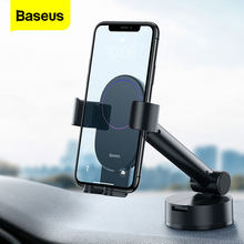 Baseus – Support de téléphone portable à ventouse pour voiture, pour iPhone 12 11 X Max Xiaomi Samsung Huawei