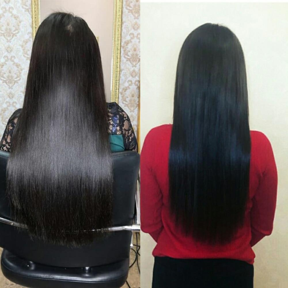 Amanda Double Drawn  with Kim K Closure 3 Bundles  Straight  Virgin Hair Bundles With 2x6 Closure 5