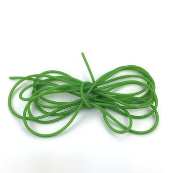 Green Natural Latex Slingshots Yoga Rubber Tube 0.5-5M For Hunting Shooting High Elastic Tubing Band Accessories 2X5mm Diameter 5