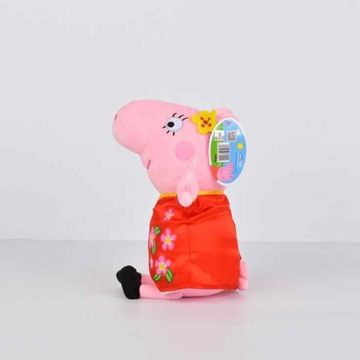 Versão Da Família Peppa Pig bichos de pelúcia de Natal Surpresa Presente Festival para Crianças Super Herói George Cos Pirata Peppa Pig Boneca de Pelúcia brinquedo
