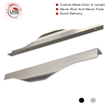 Уке современный простой шкаф дверная ручка края ручки для ящика шкафа скрытые мебельные ручки кухонный шкаф ручка улыбка ручка