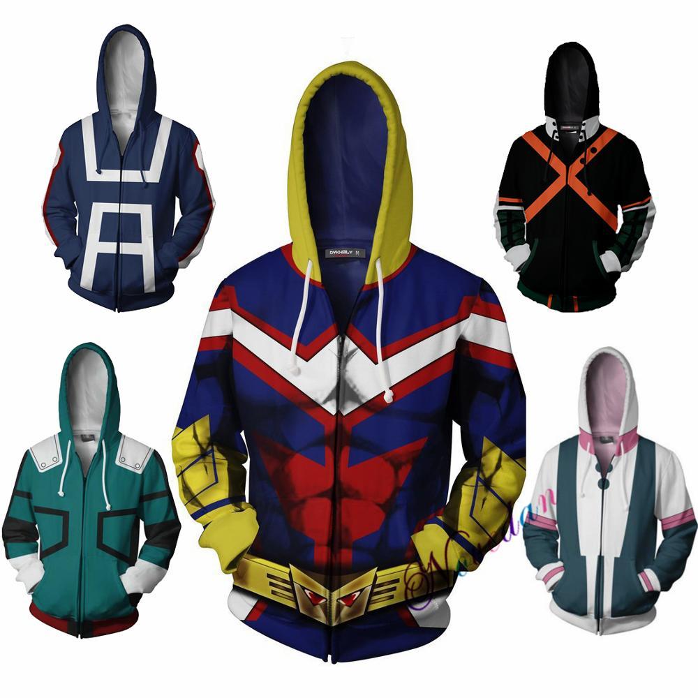 L My Hero Academia Izuku Midoriya Cosplay Costume Halloween Jacket Hoodie Size
