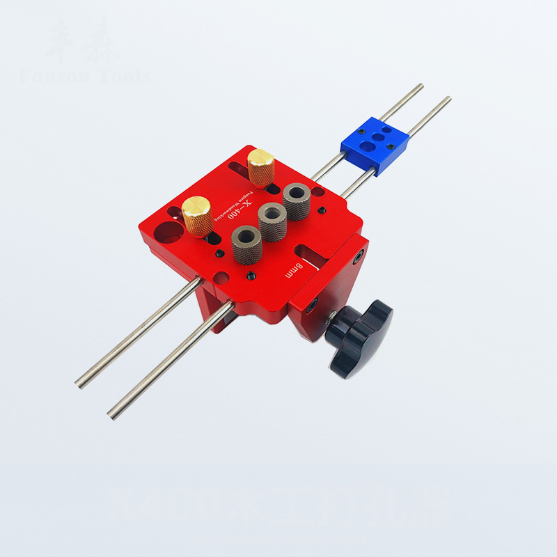 Wood Hole Drill Punch Locator Guide Positioning Jig Joinery System Kit Aluminum Alloy Woodworking Diy Tools