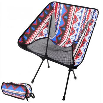 Portable Folding Camping Chair Aluminium Alloy Fishing Picnic BBQ Hiking Chair Outdoor Tools Travel Foldable Beach Seat Chair naturehike portable fishing chair foldable 2 colors steel folding hiking picnic barbecue beach vocation camping chairs