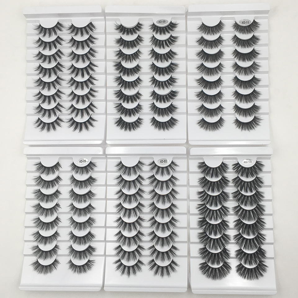 8 Pairs False Eyelashes Makeup Soft Wispy Natural Lashes Handmade 3D Faux Mink Lashes Extension Wholesale Fake Eyelashes