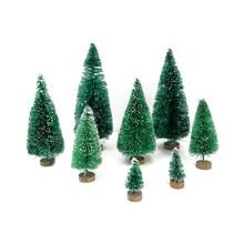 Mini arbre de noël artificiel, gel de neige, 8 pièces/ensemble, petit pin, artisanat bricolage décoration de bureau, décoration de noël