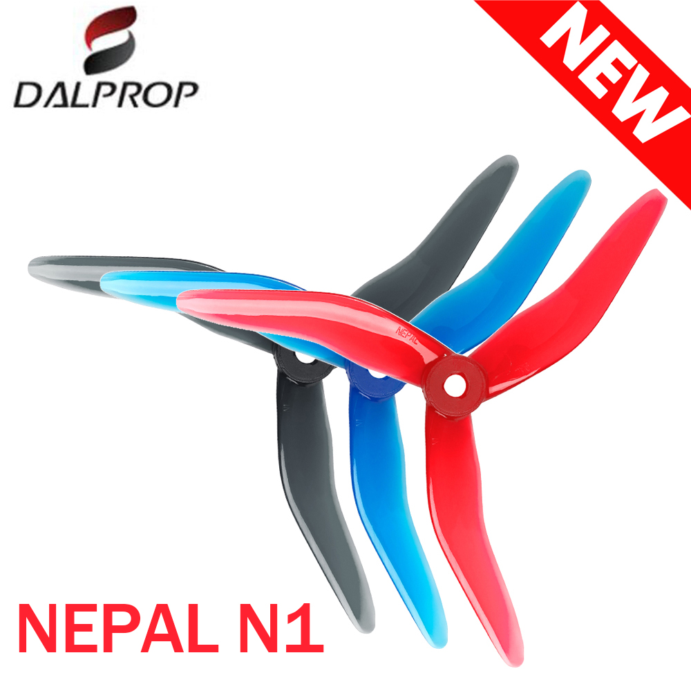 24PCS/12Pairs  Upgraded DALPROP Nepal N1 5143 3 Blade FPV Propeller CW CCW POPO For RC Drone FPV Racing