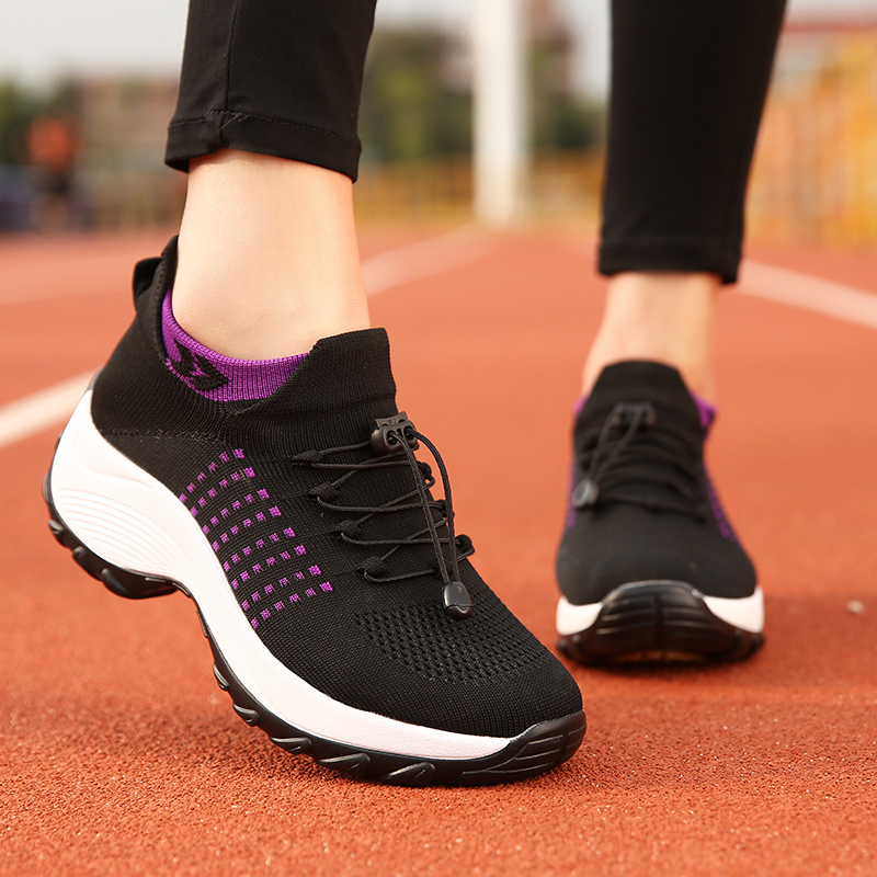 SHANTA 2020 Autumn Women Flat Platform Sneakers for Women Breathable Mesh Sneakers Shoes Spring Ladies Laces for Sock Sneakers|Women's Flats| - AliExpress