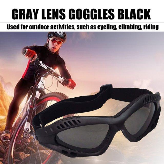 Óculos de proteção da motocicleta ciclismo óculos elásticos cs tactical óculos de segurança à prova de vento anti-poeira esportes ao ar livre 5