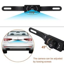 License Plate Frame Car Rear View Camera IP67 HD Night Vision Waterproof 7 LED Infrared Rearview Backup Parking Camera