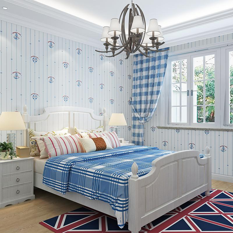 Manufacturers Direct Selling Environmentally Friendly Wallpaper CHILDREN'S Room Sailboat Cartoon Wallpaper Bedroom Non-woven Wal