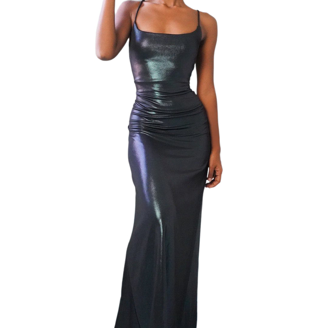 Halter dress women sexy elastick halter black Sexy Strap Backless bodycon dress maxi halter dress y2k nigthclub dressParty dress 2
