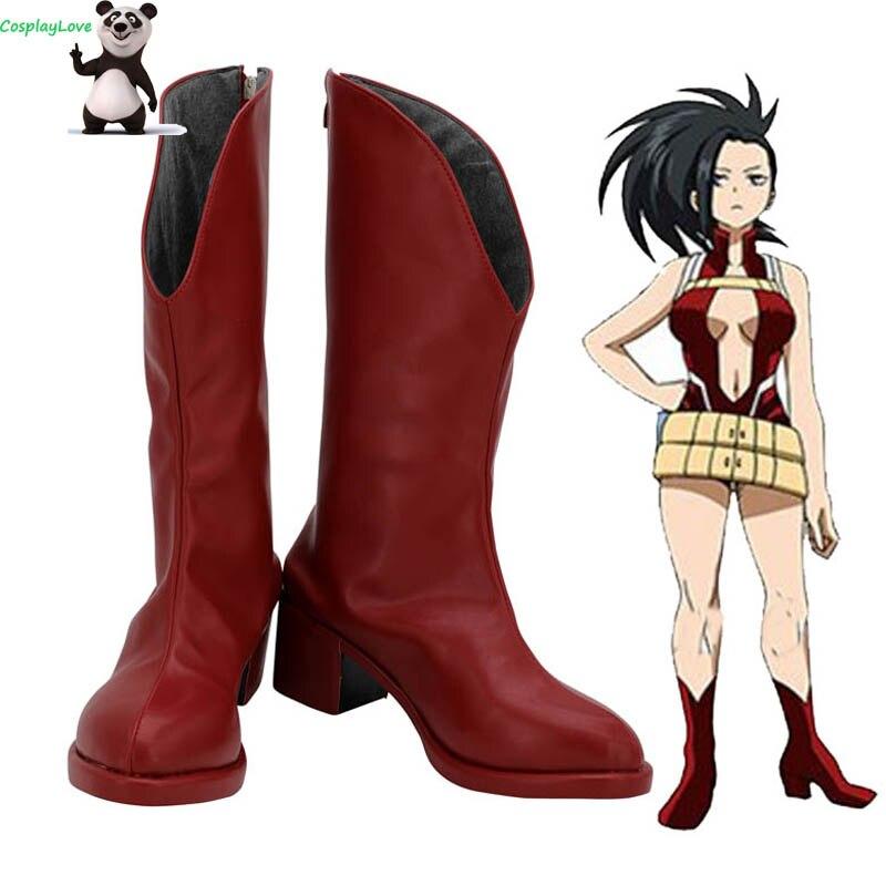 My Hero Academia Boku no Hero Akademia Momo Yaoyorozu Red Cosplay Shoes Boots Custom Made CosplayLove