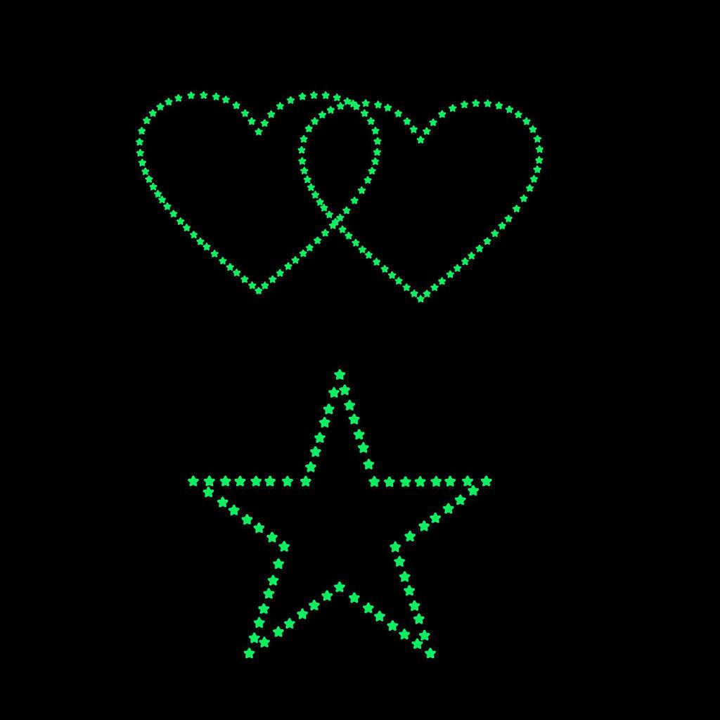 Autocollant Fluorescent mural en 3d étoiles | 127 pièces, éclairage dans la nuit, lumineux, décoration murale, pour chambre d'enfants et chambre à coucher