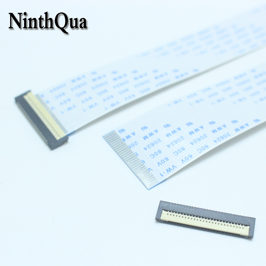 1 шт. 0,8 мм Шаг 200 мм плоский кабель для сигнала клавиатуры ноутбука/FFC FPC разъем 0,8 26P 30P 32P 34P AMW 20624 80C 60 в