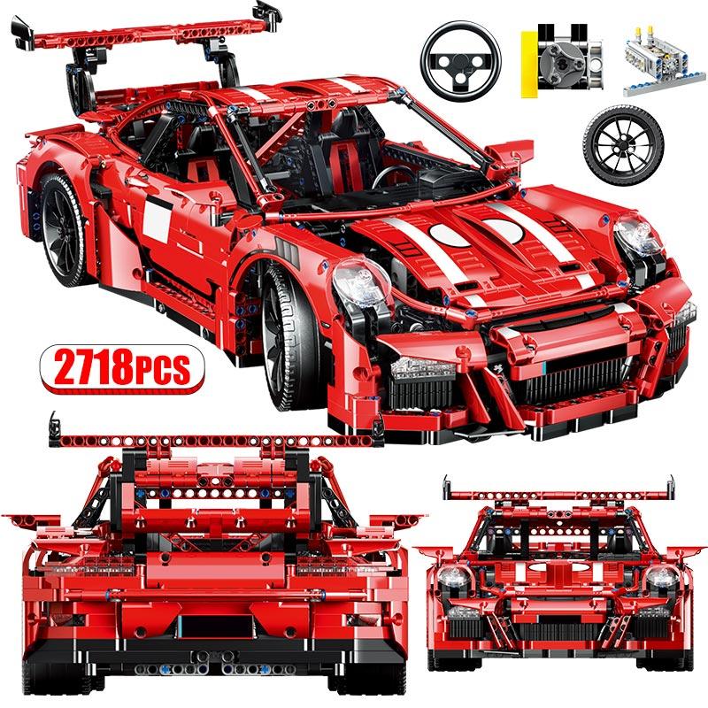 1:10 City Technic, механический автомобиль, гоночный автомобиль, MOC, строительные блоки, модель, сделай сам, уравнение, автомобиль, мини-кирпичи, игру...