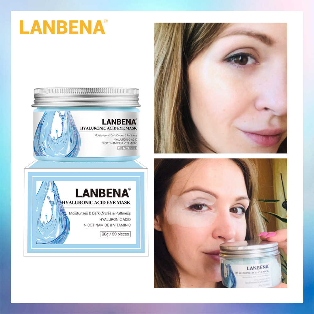 LANBENA Retinol Eye Mask Hyaluronic Acid Eye Patches Serum Reduces Dark Circles Bags Eye Lines Repair Nourish Firming Skin Care