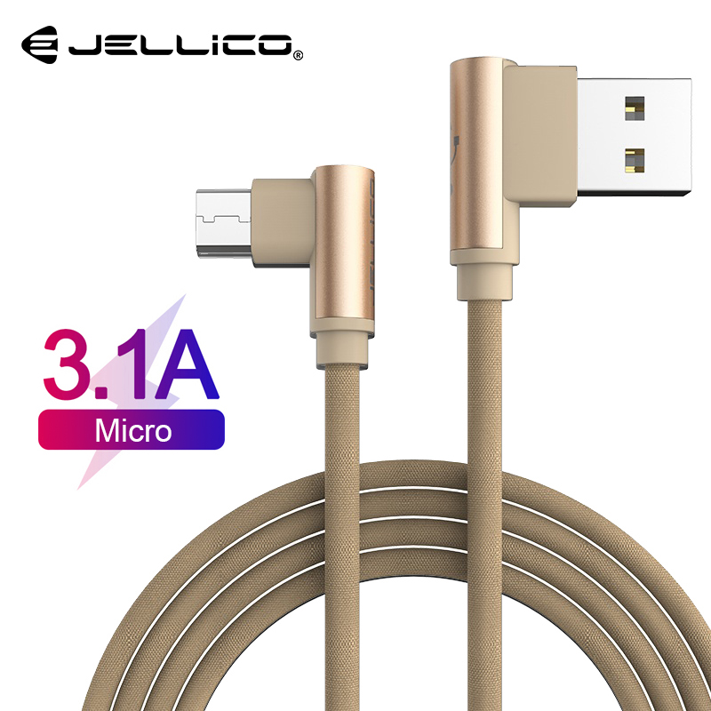 Jellico Micro USB Cable 90 Degree elbow Nylon Braided Fast Charging Charger Data cable for Samsung s7 xiaomi redmi LG microusb|Mobile Phone Cables|   - AliExpress