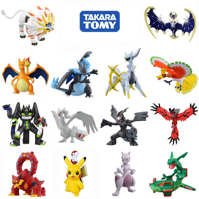 TAKARA TOMY Pokemon 8-10 Cm Pikachu Charmeleon Ivysaur Venusaur Mewtwo Anime Action & Toy Figures Model Toys For Children
