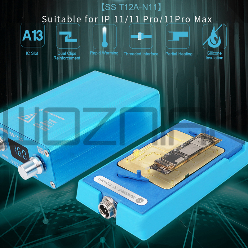 Sunshine T12A SUNSHINE SS T12A-N11  motherboard  heating System  For IPhone11/11P/11P MAX Motherboard Repair Tool