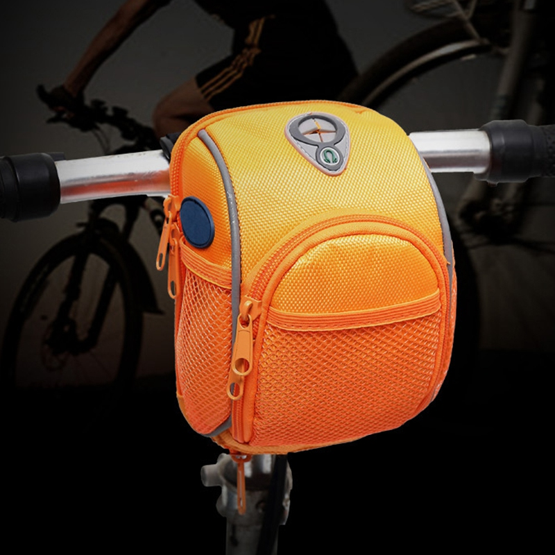 Scooter Storage Bag With Reflective Stripe Bicycle Front Bags Handlebar Bag Outdoor Activity Cycling Basket Frame Pack Accessori