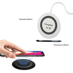 Image 4 - EnergyPad Qi אלחוטי מהיר מטען 7.5W עבור iPhone X / 8/ 8 בתוספת Samsung Galaxy