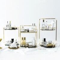 Luxury Cosmetics Storage Rack Rotate Makeup Organizer Perfume Desktop Display Stand Bathroom Dressing Table Shelf New Listing