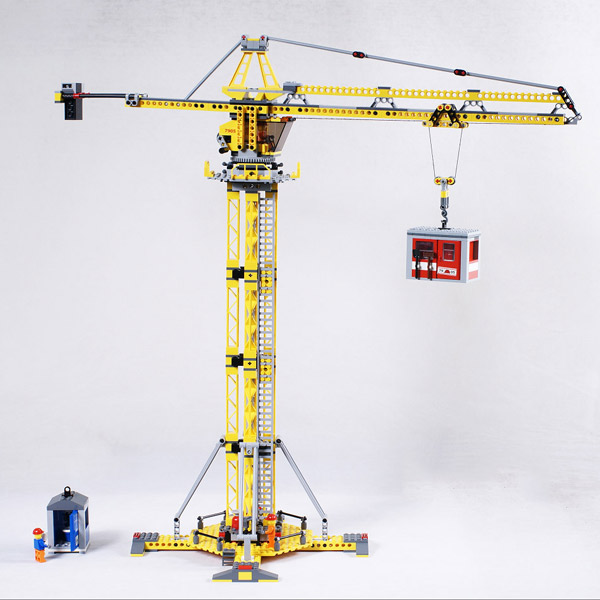 02069 Creator Series Engineering Project Construction Crane Model Building Blocks 778pcs Bricks Toy Gift For The Children 7905-in Blocks from Toys & Hobbies