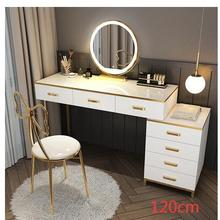 Net Dressing-Table Nordic-Light Bedroom Storage-Cabinet Modern Luxury Red with Lamp Simple