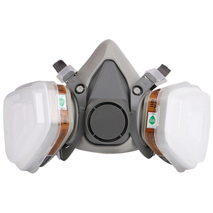 Image 2 - Gas Maske Industrielle Halbe Gesicht Malerei Spritzen Atemschutz mit Schutzbrille Anzug Sicherheit Arbeit Filter Ersetzen 3M 6200