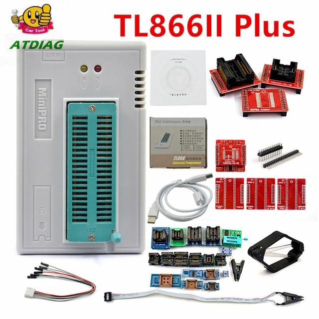 XGECU 100% Original Minipro TL866II Plus + 28 Adapters EEPROM Universal Bios USB programmer