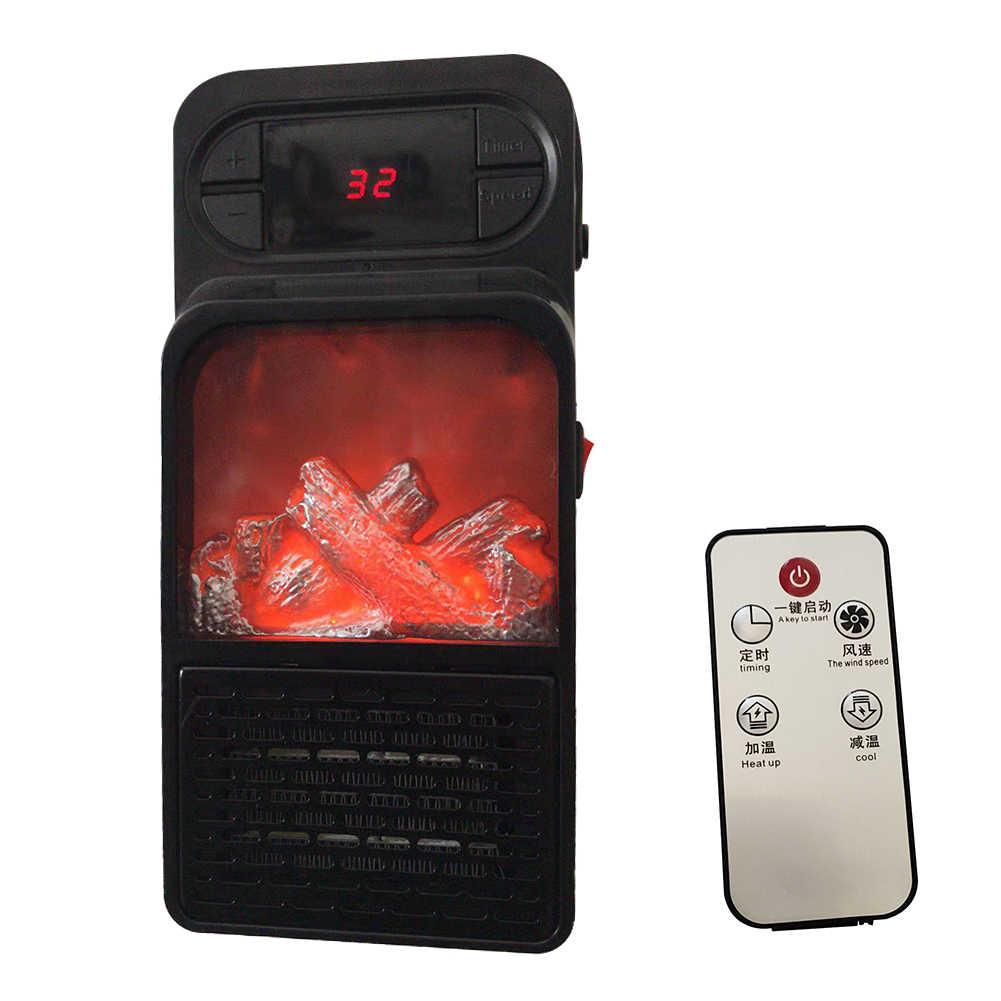 الرقمية DisplayFlame سخان مروحة بجهاز تحكم الكهربائية التدفئة أدفأ البسيطة الهواء أدفأ واقعية لهب الكهربائية التحكم عن بعد